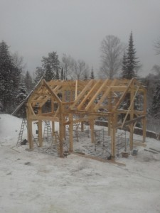 timber frame raised