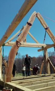 Cruck timber frame