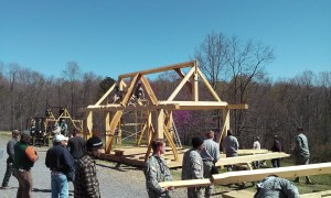Timber frame hand raising VMI FTX 2016