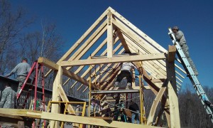 Hand raising timber frame VMI FTX 2016