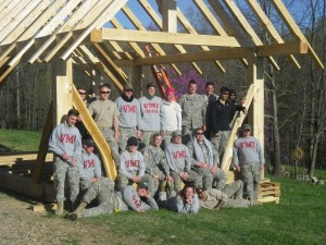 VMI FTX 2016 Timber Framing Cadets
