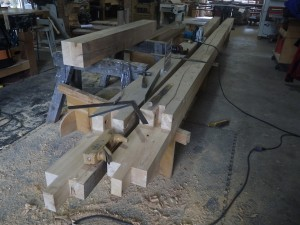 Cyprus sill timbers scarf joint